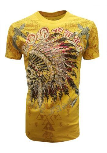 Konflic Starlite Chains t-shirt Biker rocker Shield Wings Harley tribal tatuaje