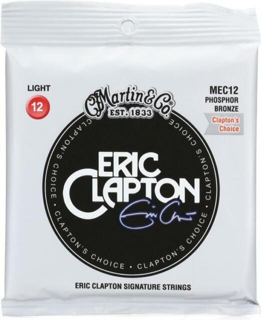 MARTIN MEC12 ERIC CLAPTON PHOSPHOR BRONZE LIGHT ACOUSTIC GUITAR STRINGS **NEW**