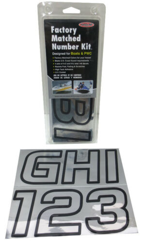 Letter Registration Sticker Decals-Factory Matched Number Kit PWC; CHBLK700