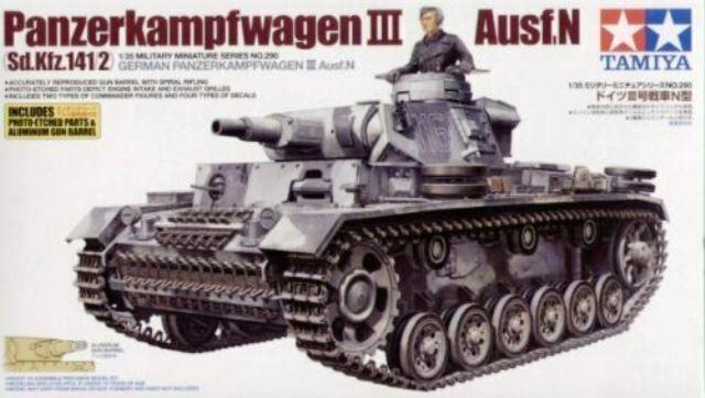 GERMAN PANZERKAMPFWAGEN III AUSF. N  scala 1 35 - TAMIYA 35290
