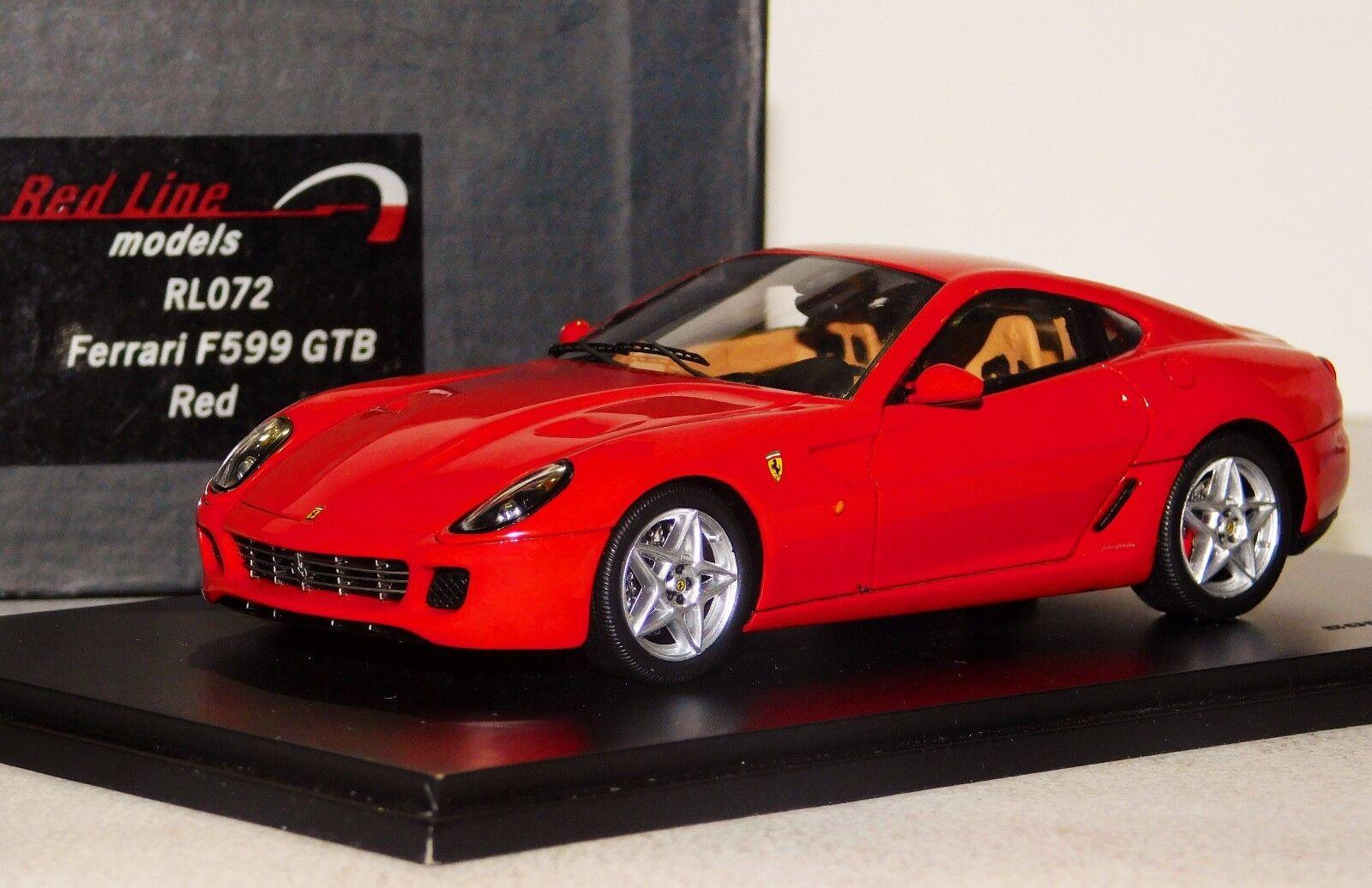 Ferrari f599gtb rojo   rojo Bull rojo Line rl072 1  43