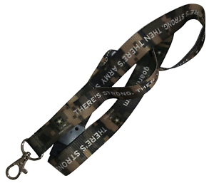 US Army Military Camouflage Lanyard Keychain - Green D4864