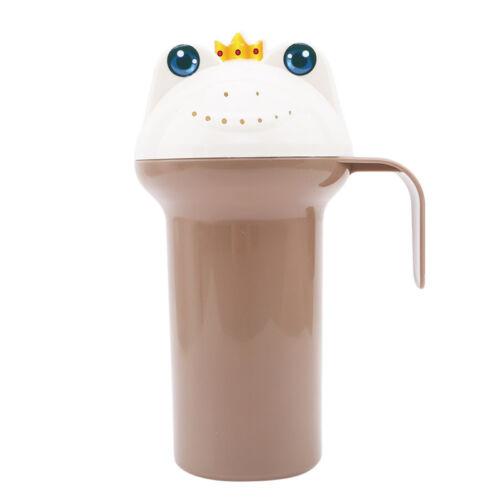 Baby Infant Bath Rinse Cup Waterfall Rinser Bathing Shower Bottle Hair Wash N7