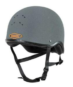 Shires-KARBEN-Jockey-Skull-Cap-Riding-Hat-Helmet-in-Grey
