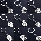 Heart Love Father's Day Mother Gift Paws Pet Dog Keyring Family Keychain Silver