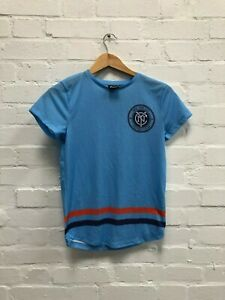 more photos 09b11 bcb98 Details about Majestic New York City FC Kid's Kit T-Shirt - 9-10 Years -  Blue - New