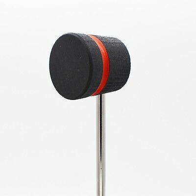 Lightweight Felt Daddy Scorched with Black Stripe Low Boy Bass Drum Beaters