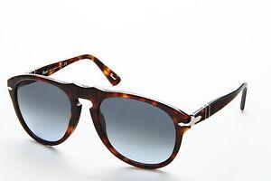 e433f218c5249 Persol 649 Aviator Sunglasses 24 86 Havana Tortoise   Blue Gradient Po0649  54 Mm