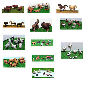 LANGLEY-ANIMALS-WILD-LIFE-N-Gauge-various-options-painted-unpainted-Langley