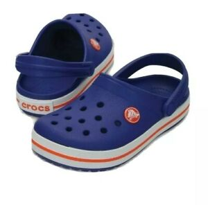 Crocs Kids Size 2 Red White And Blue