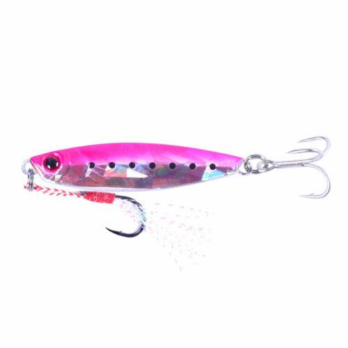 7PCS//Set Lead Metal Lure 15g 20g 30g 40g Spoon Bait Saltwater Jig Fishing Tackle