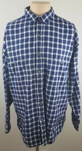 PATAGONIA-Mens-Organic-Pima-Cotton-Checkered-Long-Sleeve-Button-Up-Shirt-Size-L