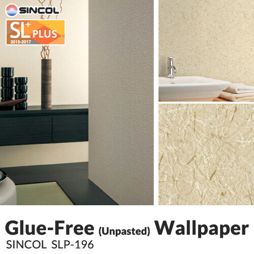 Unpasted Anti Fungal (Mold) Vinyl Wallpaper (SLPlu/Slp196)  Japanese  50m/roll