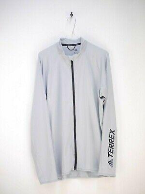 Adidas Terrex Laufjacke Jacke Shirt Grau Herren Größe L