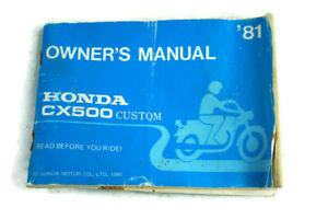 Owner-039-s-Manual-1981-Honda-CX500-Custom-Motorcycle