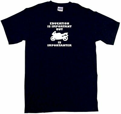 Education is Important But Mountain Bike is Importanter Mens Tee Shirt Pick