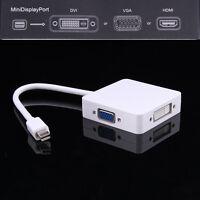 Mini DP Thunderbolt to HDMI DVI VGA Adapter Cable for Apple Mac Book Air Pro Hot