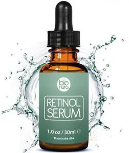 Bionura-Retinol-2-5-Vitamin-C-20-amp-Hyaluronsaeure-Anti-Aging-Straffendes-Serum