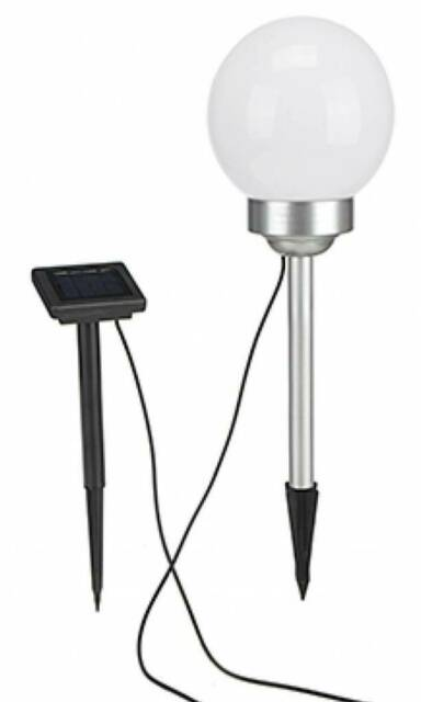 LED Solar Kugellampe Kugel Lampe Leuchte Garten Außen Beleuchtung rotierend 15cm