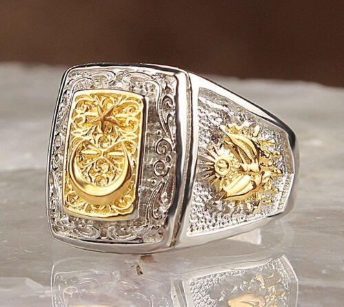 Turksh Jewelry handmade no stone 925 Sterling Silver Mens Mans Ring us ALL SİZE