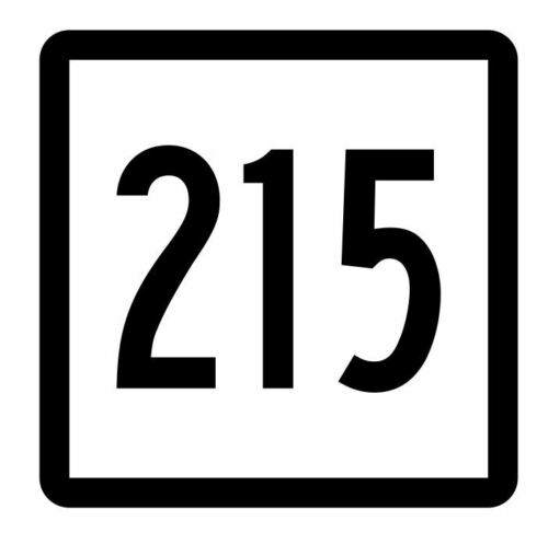 Connecticut State Route 215 Sticker Decal R5218 Highway Route Sign
