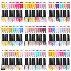 6-Bottles-set-PVOY-UV-Gel-Nail-Polish-Black-White-Soak-Off-Nail-Art-Gel-Varnish