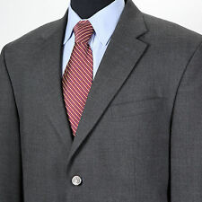STAFFORD Men's 44S Gray Solid 2 Silver Buttons Hopsack Sport Coat Jacket Blazer