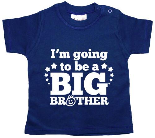 "T-Shirt Bebè /"" i/'M Going To Be a Big Brother /"" da Bambino Maglia T-Shirt Vestiti"