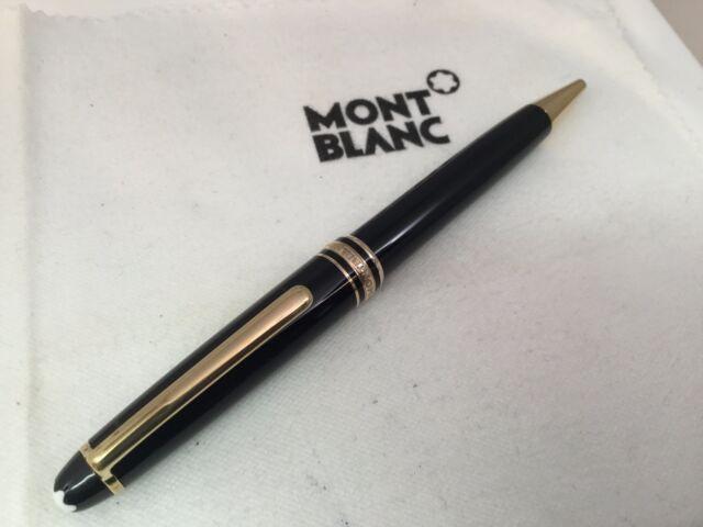 Montblanc Classique Meisterstuck Ballpoint Pen Black w/ Gold Trim 164 10883