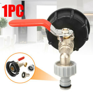 IBC-Tank-Adapter-S60X6-To-Brass-Tap-1-2-034-Replacement-Valve-Fitting-Parts-TPHS
