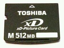RARE Genuine TOSHIBA M 512 MB xD Picture Memory Card XD512MDA For OLYMPUS & FUJI