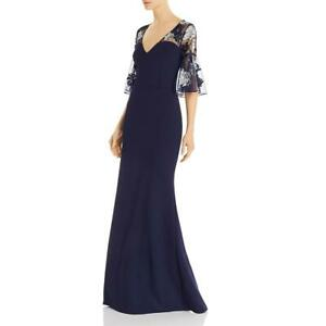 Aidan-Mattox-Womens-Sequined-Bell-Sleeves-Evening-Formal-Dress-Gown-BHFO-7528