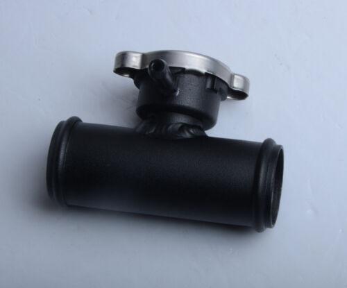 """38mm In Line Radiator Hose Filler Neck//Cap 1-1//2/"""" Hose BLACK 38mm"""