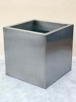 Zinc Metallic Cube Garden Planters / Pots - 3 sizes and 2 finishes