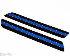 Laminated - 93-13 Saddlebag Latch Reflector Insert Decal Set - Police Blue Line