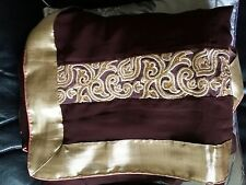 Latest indian designer embroadery saree  ready made three quarter sleeve blouse