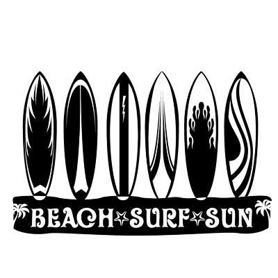 Surfer Surf Man With Surfboard Vinyl Car Window Laptop Decal Sticker
