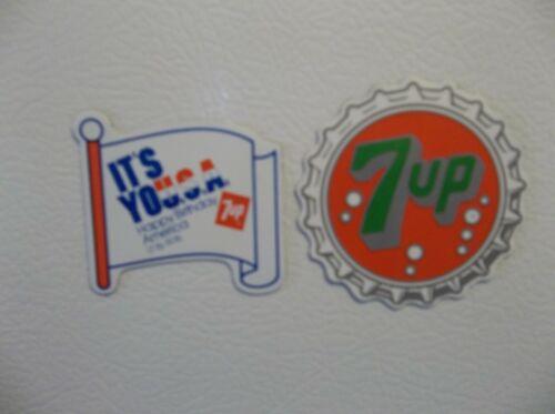2 Rare Mod Seven Up 7up Soda 1976 Bicentennial Advertising Magnets NOS New