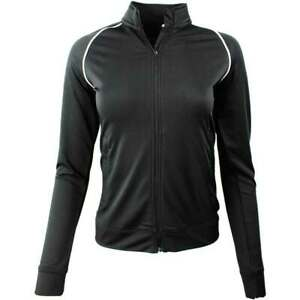 Page-amp-Tuttle-Piped-Layering-Jacket-Athletic-Golf-Outerwear-Black-Womens