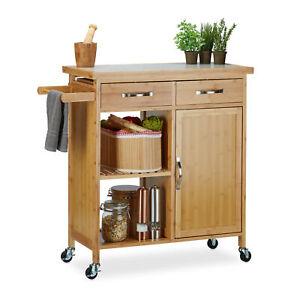 Kitchen-Trolley-Wooden-TROLLEY-Tea-Trolley-Kitchen-Cart-All-Purpose-Trolley-Bamboo