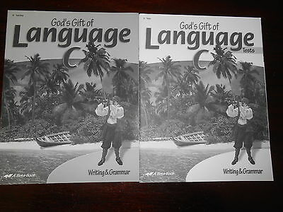 A Beka Book Language tests/student/te homeschooling 6th grade lot of 2 English