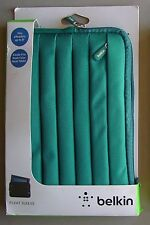 """Belkin Pleated Sleeve GREEN Case Cover Tabletr E READERS 8"""" Kindle, Fire, Nook"""
