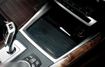 Steel Inner Middle Console Button Frame Cover Trim 1pcs For BMW X5 E70 2007-2013