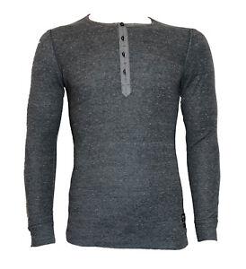 DIESEL-Herren-langarm-Shirt-034-T-Yamato-034-grau-meliert-Gr-S-NEU