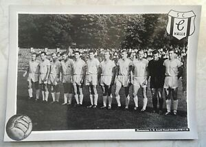 Altes-Mannschaftsbild-14-x-10-cm-SC-Chemie-Halle-HFC-DDR-Oberliga-Foto-Poster