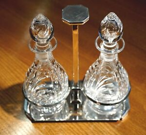 Antique-1938-Sterling-Silver-Art-Deco-Cruet-Set
