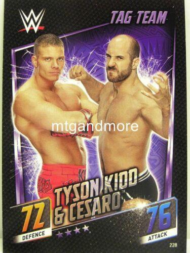 #228 Tyson Kidd /& Cesaro Slam Attax then now Forever