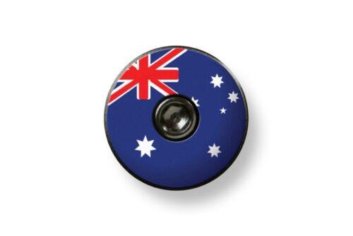 Bikelangelo 1 1//8 Headset Top Cap Australian Flag
