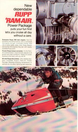 1971 VINTAGE RUPP SNOWMOBILE SALES BROCHURE