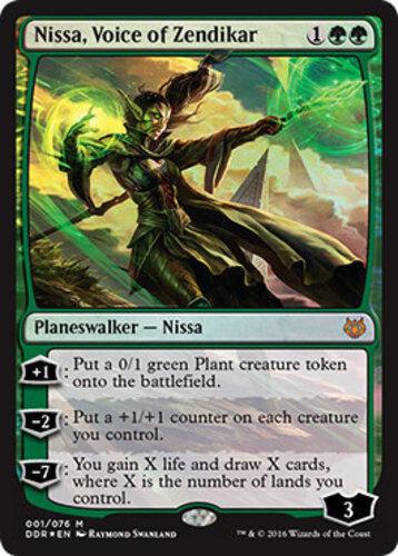 English Duel Decks: Nissa vs Ob Nix Voice of Zendikar Foil NM-Mint 1x Nissa